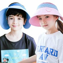 KK树新款儿童帽子夏季男女童防晒帽宝宝遮阳帽小孩太阳帽防紫外线   KQ17002