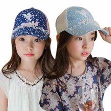 KK树新款儿童帽子夏女童鸭舌帽2-4-8岁小孩防晒遮阳帽宝宝学生夏      KQ15297