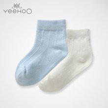 YEEHOO/英氏 男童宝宝2双装四季棉短袜子 144025