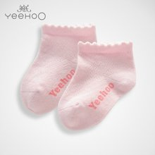 YEEHOO/英氏 宝宝男女宝宝春夏薄款短袜子 NA41110-08-2