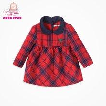 丑丑婴幼  秋冬新款女宝宝长袖加绒娃娃衫 女童后开拉链衫外套