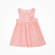 丑丑婴幼夏季新款女宝宝公主淑女可爱纯棉套头圆领无袖连衣裙