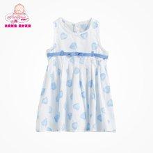丑丑婴幼 夏季新款女宝宝时尚可爱背心裙 1-4岁