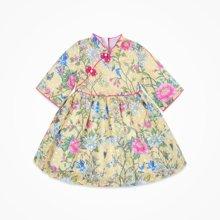 丑丑婴幼女宝民族风连衣裙女童中国风短袖裙子