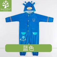kk树宝宝雨衣女小童幼儿园防水2-6岁儿童连体套装1-3岁男小孩雨披  KQ17119   包邮
