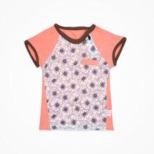 丑丑婴幼男童短袖圆领T恤上衣夏季新款男宝宝时尚拼接上衣T恤