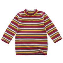 哇喔哇喔童装女童春装宝宝圆领T恤婴儿打底衫长袖条纹上衣53S210G