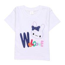 【Cottonshop棉店】一件包邮 女童宝宝春夏可爱兔子短袖棉T恤 吸汗透气舒适