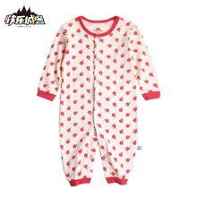 快乐城堡 新生儿婴童哈衣爬服连体衣两用款HY340812