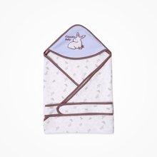 丑丑婴幼 新生儿四季双层包巾新款男宝宝卡通裥棉精美包巾85*85cm