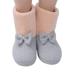 乐孕粉色高帮防滑月子鞋