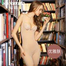 婧麒产妇产后塑身衣秋冬吊带瘦身衣连体束身美体后脱式收腹内衣        J739313