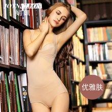 婧麒产妇产后塑身衣秋冬吊带瘦身衣连体束身美体后脱式收腹内衣     J739312