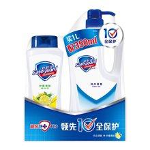 舒肤佳纯白+柠檬沐浴露组合装CX(1L+350ml)