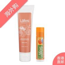 Lafes西柚柠檬护手霜75ml+柑橘润唇膏4.25g
