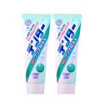 2支装 日本 LION狮王 绿色 薄荷味 粒子洁净美白牙膏 140g/支