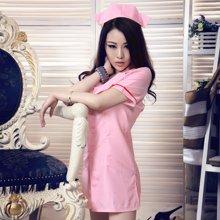 ESEZAN/爱赞清新乖巧粉色深V美背诱惑护士裙(成人情趣内衣)30109