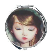姣兰3D娃娃随身化妆镜子可爱双面镜