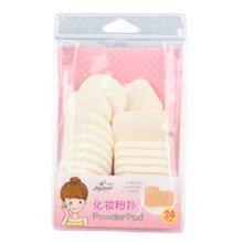 姣兰 化妆粉扑方形圆形小粉扑乳胶粉扑24片混装袋装收纳粉扑