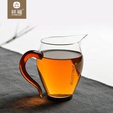 祥福 乐饮公道杯玻璃加厚日式茶海分茶器功夫茶具配件茶道零配