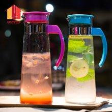 sohome 紫罗兰冷热玻璃水壶 耐热玻璃凉水壶开水瓶果汁壶R961-11