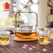 sohome 净思茶具套装六件套 耐热玻璃茶壶过滤泡茶壶茶水分离GT503-A