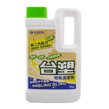 台塑生医(Drs Formula)地板清洁剂2kg 免刷免冲 植物系水解洁净抗菌成分 配方温和  清洗木地板、大理石、瓷砖等各类地板 台湾正品