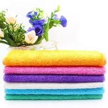 百妙 竹纤维洗碗布吸水不掉毛粘油加厚抹布厨房清洁布不沾油洗碗巾