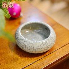 墨菲 龙泉裂纹创意个性复古烟灰缸时尚简约烟碟陶瓷装饰烟缸摆件