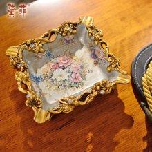 墨菲 欧式宫廷复古烟灰缸 时尚创意礼品客厅茶几装饰树脂烟缸摆件