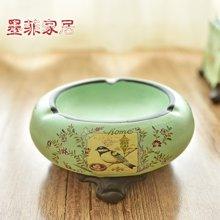 墨菲 美式乡村陶瓷烟灰缸创意客厅办公室书房摆件小果碟子瓜子碟