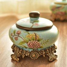 墨菲欧式田园创意带盖烟灰缸美式首饰储物盒收纳盒家居装饰摆件