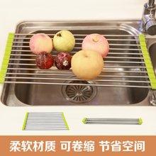 姣兰 可卷叠架沥水架 碗碟架置物架 不锈钢水槽滤水架