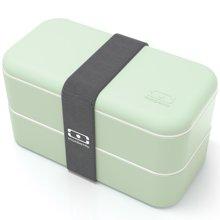 法国Monbento 双层饭盒便当盒日式分格可微波炉塑料分隔学生餐盒