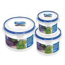 圆形随便扣保鲜盒储物盒冰箱食品密封盒 保鲜盒