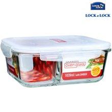 【包邮】乐扣乐扣LOCK&LOCK-格拉斯耐热玻璃保鲜盒1020毫升饭盒带分隔长方形