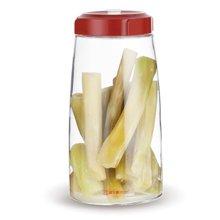 居元素玻璃密封罐食品圆形透明有盖罐子储物罐家用泡菜罐 思密达