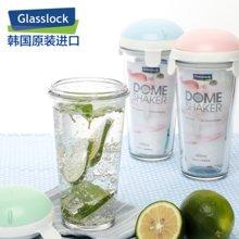GlassLock玻璃杯RC918R便携茶杯家用办公耐热水杯学生创意随手杯450ML