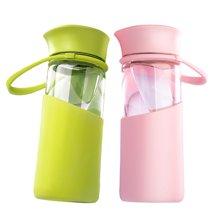 爱自由泡茶过滤玻璃杯便携可爱随手杯