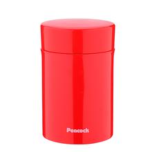 孔雀(Peacock)保温壶316不锈钢可爱焖烧罐闷烧杯  LKB-40  红色  黄色