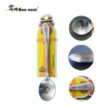 窝蜂小蜜蜂系列创意圆勺不锈钢儿童饭勺