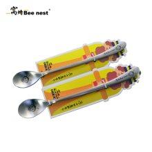 窝蜂小蜜蜂冰匙不锈钢可爱创意长柄勺咖啡勺