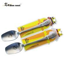 窝蜂小蜜蜂尖勺不锈钢吃饭勺儿童饭勺可爱创意长柄勺