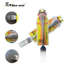 窝蜂小蜜蜂系列不锈钢餐叉创意点心叉水果叉西餐叉