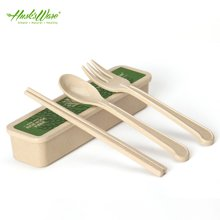 美国HUSKSWARE 环保儿童便携餐具 筷子套装学生筷叉勺旅行三件套