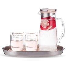 居元素玻璃水升水具套装家用耐热凉水杯喝水杯子杯具凉水壶 琉畅