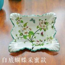 墨菲手工陶瓷新古典创意现代欧式客厅茶几零食盘方形盘子装饰果盘