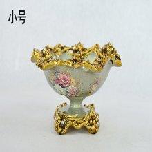 浮生梦娜 欧式宫廷复古创意彩绘果盘高端家居糖果盘客厅装饰摆件