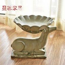 墨菲 欧式创意大号水果盘 美式复古客厅茶几软装零食盘瓜子干果盘