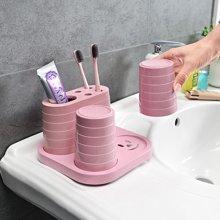 创意浴室洗漱套装牙刷架漱口杯洗漱杯刷牙杯牙膏架牙具座盒牙缸杯